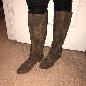 Brownish Tall Boots